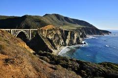Puente de Bixby, carretera de la Costa del Pacífico Foto de archivo