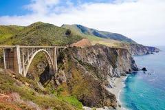 Puente de Bixby en California s Big Sur Fotografía de archivo libre de regalías
