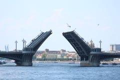 Puente de Blagoveshchensky Foto de archivo libre de regalías