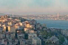 Puente de Bogazici (Bosphorus) fotografía de archivo