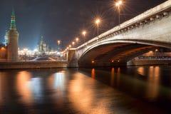 Puente de Bolshoy Moskvoretskiy fotos de archivo
