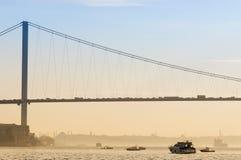 Puente de Bosphorus, Estambul, Turquía Fotos de archivo libres de regalías
