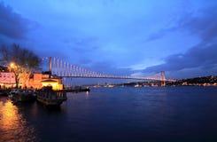 Puente de Bosporus, Estambul Foto de archivo libre de regalías