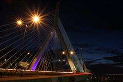 Puente de Boston Zakim fotos de archivo libres de regalías