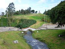 Puente de Boyaca. The site of the famous Battle of Boyaca where the army of Simon Bolivar, with the help of the British Legion, secured the independence of stock photography