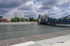 Puente de Breslau Grunwaldzki Imagenes de archivo