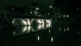 Puente de Bristol por la noche C Imagen de archivo