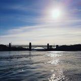 Puente de Britannia, Anglesey Fotografía de archivo