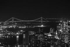 Puente de Brooklyn blanco y negro Imagenes de archivo