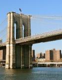 Puente de Brooklyn del puerto de Nueva York fotos de archivo libres de regalías
