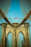 Puente de Brooklyn del tono del vintage Fotografía de archivo libre de regalías