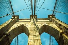 Puente de Brooklyn del tono del vintage Imagen de archivo libre de regalías