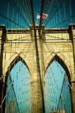 Puente de Brooklyn del tono del vintage Foto de archivo libre de regalías