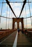 Puente de Brooklyn en el verano fotografía de archivo libre de regalías