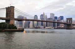Puente de Brooklyn en Manhattan Nueva York Imágenes de archivo libres de regalías