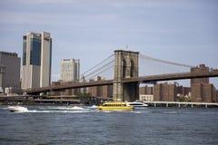 Puente de Brooklyn en New York City Imagen de archivo libre de regalías