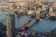 Puente de Brooklyn en Nueva York Fotos de archivo libres de regalías