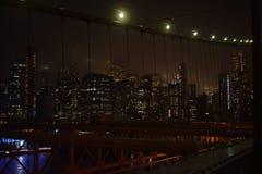 Puente de Brooklyn en Nueva York fotografía de archivo