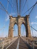 Puente de Brooklyn en Nueva York. Foto de archivo libre de regalías