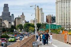 Puente de Brooklyn en Nueva York foto de archivo
