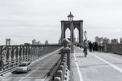 Puente de Brooklyn en Nueva York imagen de archivo libre de regalías