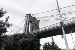 Puente de Brooklyn en Nueva York fotos de archivo