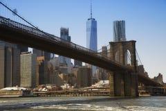 Puente de Brooklyn en Nueva York Foto de archivo libre de regalías