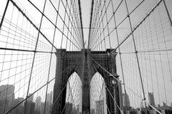 Puente de Brooklyn en NYC Imagen de archivo