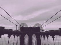 Puente de Brooklyn en NYC Fotos de archivo libres de regalías