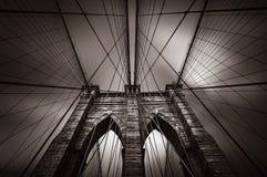 Puente de Brooklyn en NYC, los E.E.U.U. Imagenes de archivo