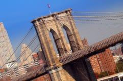 Puente de Brooklyn escénico imagen de archivo libre de regalías