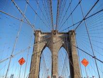 Puente de Brooklyn los E.E.U.U. imágenes de archivo libres de regalías