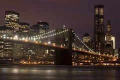 Puente de Brooklyn Manhattan Imagen de archivo libre de regalías