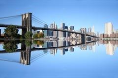 Puente de Brooklyn Manhattan Foto de archivo libre de regalías