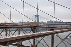 Puente de Brooklyn Manhattan, jork nowy imágenes de archivo libres de regalías