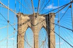 Puente de Brooklyn, Manhattan, Nueva York Foto de archivo