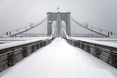 Puente de Brooklyn New York City Foto de archivo libre de regalías