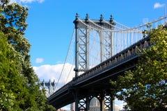 Puente de Brooklyn, Nueva York Foto de archivo libre de regalías