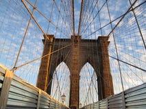 Puente de Brooklyn, Nueva York. Foto de archivo