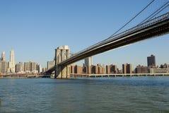 Puente de Brooklyn, Nueva York foto de archivo