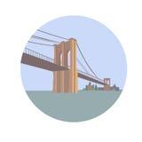 Puente de Brooklyn sobre East River Lower Manhattan libre illustration