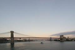 Puente de Brooklyn y de Manhattan Fotografía de archivo libre de regalías