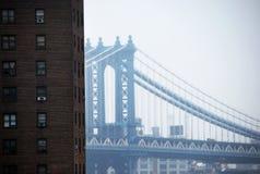 Puente de Brooklyn y horizonte de Nueva York, Manhattan Imagen de archivo