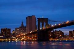 Puente de Brooklyn y Manhattan Imágenes de archivo libres de regalías