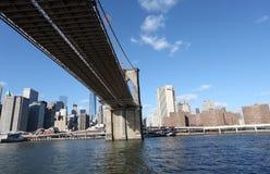 Puente de Brooklyn y Manhattan Nueva York, los E Foto de archivo