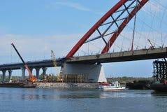 Puente de Bugrinskij Fotos de archivo