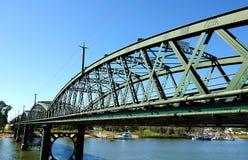 Puente de Bundaberg en Burnett River Imágenes de archivo libres de regalías