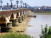 Puente de Burdeos Imagen de archivo libre de regalías