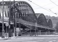 Puente de BW Praga Foto de archivo