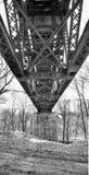 Puente de caballete de acero Fotografía de archivo
